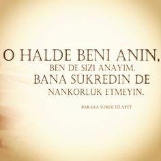 Holy Quran 2:152 ------------------ فَاذْكُرُونِي أَذْكُرْكُمْ وَاشْكُرُوا لِي وَلَا تَكْفُرُونِ Öyle ise siz beni (ibadetle) anın ki ben de sizi anayım. Bana şükredin; sakın bana nankörlük etmeyin! #hadith #hadeeth #quran #coran #koran #kuran #corán #hadis #kuranıkerim #salavat #dua #islam #müslüman #muslim #muslima #muslimah #sunnah #ALLAH #HzMuhammed (S.A.V) #TheQuran #TheProphetMuhammad (P.B.U.H) #TheHolyQuran #religion #pray #prayer #namaz #invitetoislam #islamadavet #love