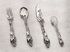 Unique Cutlery Set by Isaie Bloch