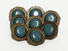 8 vintage buttons - ∅ 18 mm