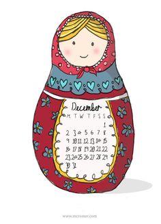 Inspiration pour le challenge art journal - thème : matriochka, poupée russe