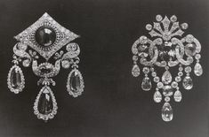 Brooch-Fermoir with diamonds and different natural coloured stones - Russian royal jewels