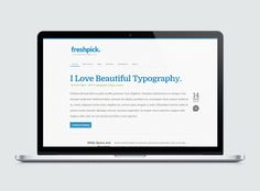 beautiful clean blogging template! Freshpick