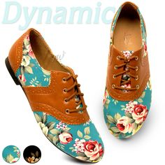Womens Shoes Classics Dress Oxfords Ballet Low Heels Flats Loafers Floral Colors | eBay
