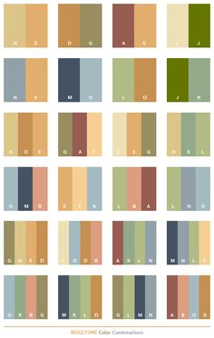 Beige tone color combinations