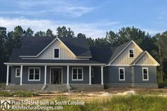 Country House Plan with Flex Space and Bonus Room - 51745HZ - 02...Don't like this exterior. Much prefer the one on website in pin
