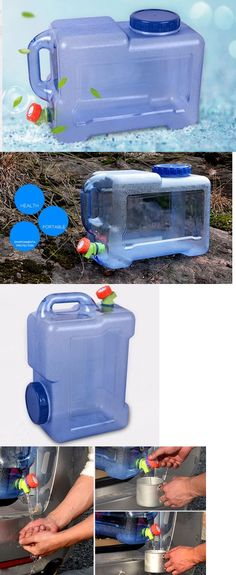 Water Carriers and Jerrycans 181409: Portable Handy Water Storage Camping Hiking Bucket Collapsible Container BUY IT NOW ONLY: $999.0