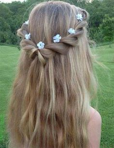 Spring Hair Ideas For Short, Medium & Long Hair – Watch out Ladies Easy Hairstyles For Long Hair, Spring Hairstyles, Braids For Long Hair, Long Curly Hair, Braided Hairstyles, Fashion Hairstyles, Short Hairstyle, Prom Hairstyles, Hairstyle Ideas