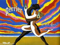 Affiche Publicitaire (21 X 29,7 cm) Repro - Villemot - EAU DE PERRIER   eBay