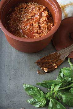 Tomato Risotto with Pine Nuts | Vegetarian Times