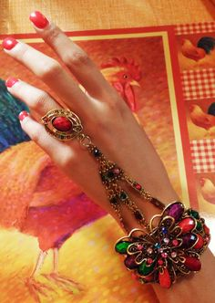 Ring Cuff Bracelet by IDIG on Etsy
