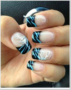 Zebra nail art Ideas design for teens 2015