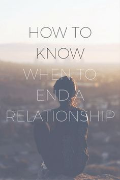 Break-ups are hard. The longer the relationship, the harder the break-up. Not all relationships are meant to last forever. So, how do you know when it's time to get out? Here are some tell-tale signs that it's time to move on.