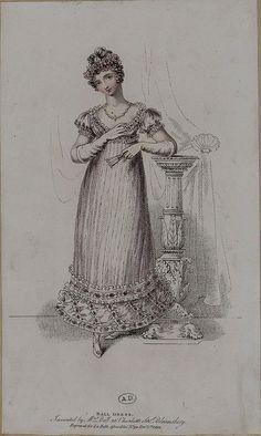 1816 La Belle Assemblee. Ball Dress.                                                                               More