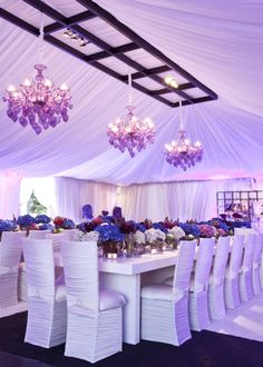 purple wedding reception - luv it