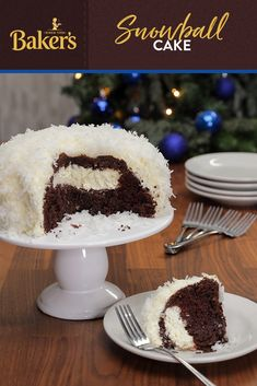 Even if the weather outside is frightful, this quick and easy Snowball Cake is sure to be delightful. The perfect dessert for any season, this cake will have everyone wanting another slice. Just Desserts, Delicious Desserts, Yummy Food, Baking Recipes, Cake Recipes, Dessert Recipes, Frosting Recipes, Holiday Baking, Christmas Baking