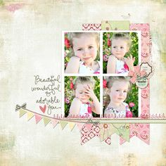Basic Grey Scrapbook Page