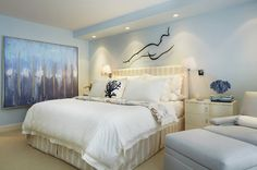 Palm Beach Apartment - contemporary - bedroom - other metro - Annie Santulli Designs-Benjamin Moore Bashful Blue
