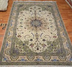 6'x9' Hand-knotted Wool n Silk Oriental Persian Tabriz Area Rug ~New47