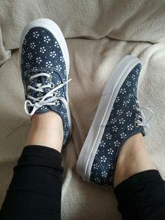 #vans #flower #jeans #White #sneakers