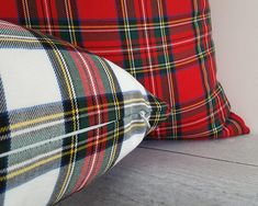 White Red Plaid Pillow, Christmas Pillow Cover, Tartan Pillows, Country Christmas Decor, All Sizes 26 Tartan Christmas, Merry Christmas, Christmas 2019, Plaid Bedding, Country Christmas Decorations, Christmas Pillow Covers, Old Fashioned Christmas, Red Blue Green, Home Decor Fabric