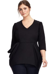 Double Draped Peplum Blouse by @melissaSeven7 Available in Sizes 0X-4X