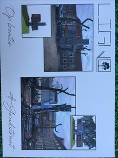 Plaatsing van het SketchUp ontwerp op locatie (goudstraat).