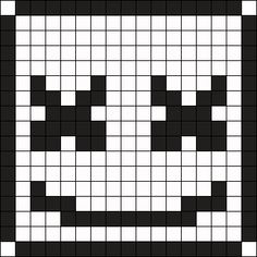 This is how to draw easily Marshmello Face from Fortnite in just few minutes. You just need few felt pens and a squared paper sheet This drawing can easily be use as a pattern for pearl and Hama beads Pixel Art Templates, Perler Bead Templates, Diy Perler Beads, Perler Bead Art, Kandi Patterns, Hama Beads Patterns, Beading Patterns, Marshmello Face, Pixel Art Grid