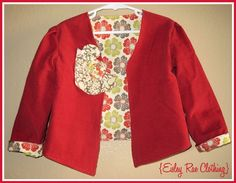 The Sweetheart Jacket Size 3/4 - Red Corduroy