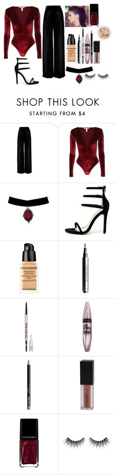 """""""date"""" by marobieber16 ❤ liked on Polyvore featuring Ms Min, NLY Trend, Liliana, Givenchy, Burberry, Maybelline, Smashbox, Illamasqua and Huda Beauty"""