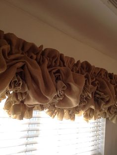 Burlap Balloon Valance for Double Window by MimiAndMe2 on Etsy