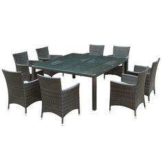 Modway Furniture Channels 9 Piece Outdoor Patio Dining Set  #design #homedesign #modern #modernfurniture #design4u #interiordesign #interiordesigner #furniture #furnituredesign #minimalism #minimal #minimalfurniture