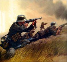 WHRMACHT - Panzergrenadier della Division d'élite Grossdeutschland sul fronte russo. - Jarolslaw Wrobel