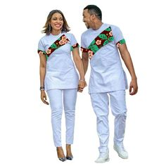 African Couple Outfit Women Set +Men Sets Ankara Outfit for Couples Fashion Couple's Prom Outfits Africa Clothing T-shirt Custom. Latest African Men Fashion, African Wear Styles For Men, African Shirts For Men, Nigerian Men Fashion, African Attire For Men, African Clothing For Men, Fashion Women, Couples African Outfits, African Dresses Men