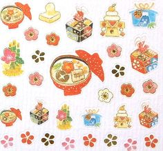 Japanese Stickers  New Year  Chiyogami Paper by FromJapanWithLove