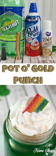 Pot O' Gold Punch – DIY St. Patrick's Day Drink (Super Easy!!)