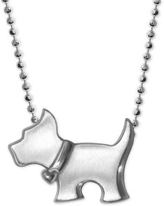 895391f6f Alex Woo Scotty Dog Pendant Necklace in Sterling Silver Locket Necklace,  Beaded Necklace, Beaded