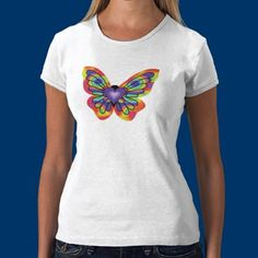 Butterfly in my Heart Shirt by fstasu54