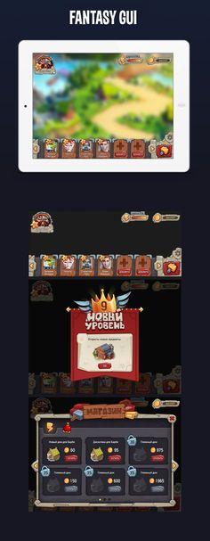 Fantasy GUI on Behance
