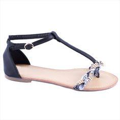 Sandale dama cu bareta LS02N - Reducere 50% - Pret 29.99 lei - Zibra Shoes, Fashion, Sandals, Moda, Zapatos, Shoes Outlet, Fashion Styles, Shoe, Fashion Illustrations