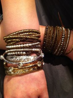 Literally addicted to these Chan Luu Wraps! I Love stacking them = Arm Party :)
