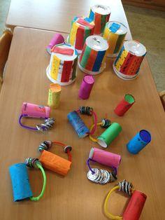 Instrumentos musicales con materiales de reciclaje #creatividad