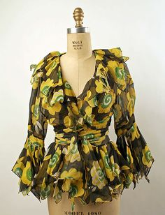 Evening blouse Ossie Clark Date: 1970–75