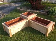 Corner Planter Box - I would build a small seat into it.