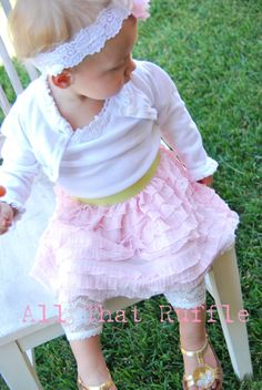 Toddler Ruffle Skirt by allthatruffle on Etsy, $18.00....Melissa, Ava needs this to if your a good mom you will get it for her! :)