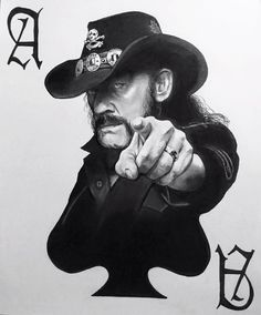 Lemmy Kilmister Motorhead Portrait Drawing by VintonStudio on Etsy