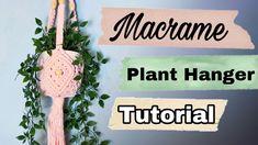 MACRAME PLANT HANGER | How to Macrame: diamond basket plant hanger | Adv... Macrame Plant Hanger Patterns, Macrame Plant Hangers, Macrame Patterns, Macrame Projects, Craft Projects, Projects To Try, Craft Ideas, Macrame Owl, Macrame Knots