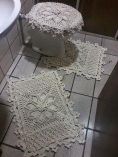 .: Encante seu Banheiro, com trabalhos em crochê