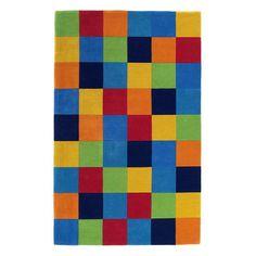 KAS Rugs Kidding Around Color Blocks Area Rug