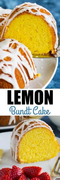 The ultimate Lemon Bundt Cake starts with a cake mix! Add pudding, fresh lemon juice, and a sweet glaze for a truly special dessert. via @culinaryhill