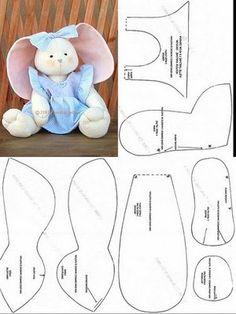 ARTE COM QUIANE - Paps,Moldes,E.V.A,Feltro,Costuras,Fofuchas 3D: 7 moldes de coelhos para vc se inspirar e usar